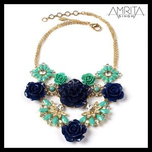 Amrita Singh Rose Garden Necklace Turquoise & Blue